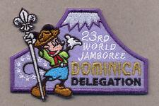 23rd world scout jamboree DOMINICA ISLAND CONTINGENT BADGE 2015