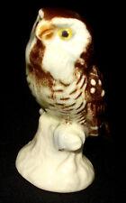 "VTG GOEBEL W GERMANY OWL ON BRANCH PORCELAIN FIGURINE 2 1/2"" TALL"