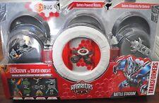 Transformers Warriors Battle Stadium Lockdown vs Silver Knight Battling Robots