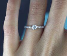 $4,200 Tiffany & Co Novo Platinum 0.50ct Cushion Diamond Engagement Ring Band