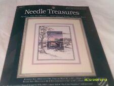 NIP JCA-Needle Treasures Counted Cross Stitch-Sunsets-The Old Bridge-Kit 04677