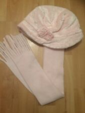 Baby Girls Pink Hat And Scarf Set 0-6 Months