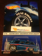 Chevy Greenbrier Wagon * 2015 Hot Wheels Heritage w/ Real Riders * WF6