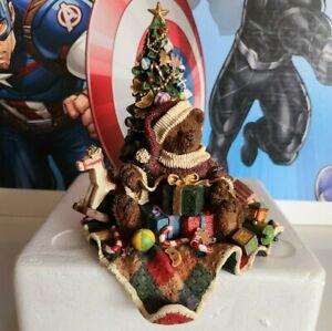 Grandeur Noel Bear Sitting by Tree With Presents Christmas Stocking Holder