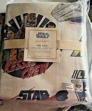Pottery Barn Kid Star Wars Han Solo A star wars story QUEEN sheet set