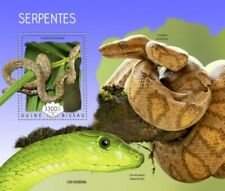 Guinea-Bissau - 2019 Snakes on Stamps - Stamp Souvenir Sheet - GB190809b