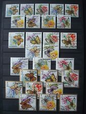 FUJEIRA 4 SETS USED 2 SCANS / BUTTERFLIES SPORTS US PRESIDENTS