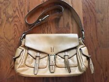 Firenze Italy Large Leather Shoulder Hobo Tote Satchel Slouch Purse Bag