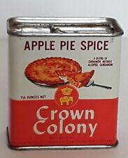 Vintage Crown Colony Apple Pie Spice, unopened tin Mar 62