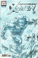 Astonishing X-Men Annual 1 Iceman Variant 2018 Signed By Jeehyung Lee Marvel