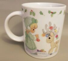 Precious Moments Christmas Reindeer Ornaments Squirrel Bulbs Coffee Tea Mug Cup