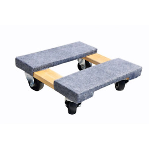 Milwaukee Furniture Dolly Appliance Mover Rolling Wheels Wood 800 lb Capacity