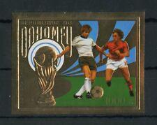 BENIN-DAHOMEY Nr.586B ** FUSSBALL-WM 1974 GOLD UNGEZÄHNT !!! (129447)
