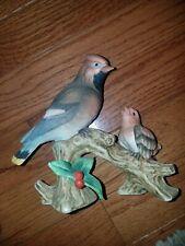 "Vintage Cardinal Mother & Baby Tree 6"" Lefton Kwo7456"