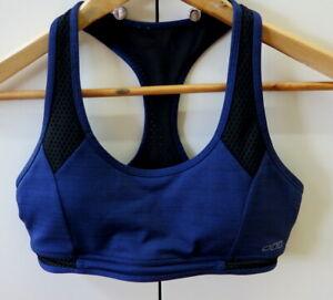 Stylish Navy & Black Mesh Sport Bra from Lorna Jane - Size M