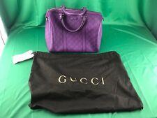 GUCCI Guccissima Purple Leather Satchel Purse Top Boston Joy (READ DESCRIPTION)