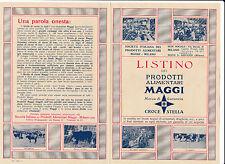 DEPLIANT PUBBLICITARIO LISTINO PRODOTTI ALIMENTARI MAGGI MILANO 12-99