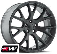"22"" Dodge Challenger OE Replica Staggered Wheels SRT Hellcat Matte Black Rims"