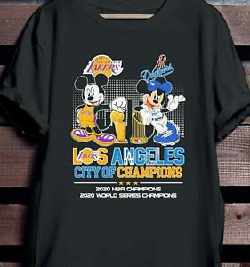 Los Angeles Lakers And Dodgers City Of Champi0ns 2020 Shirt Vintage Men Gift Tee