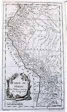 Antique map, Carte du Perou