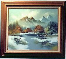 Winter Mountain Lake by Carter