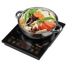 Induction Cooktop Portable Hot Plate 5 Pre-Set Programs Stainless Steel Pot Incl