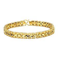 "Women's Bracelet Charm Chain New 18K Yellow Gold Filled 7.3"" Link Lady's Jewelry"