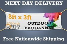 8ft x 3ft PVC BANNERS PRINTED OUTDOOR SIGN VINYL BANNER  - NEXT DAY DELIVERY -