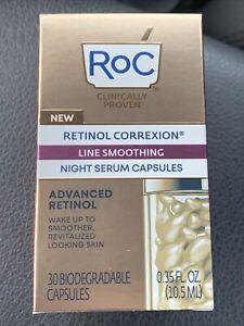 (New) Roc Retinol Correxion Line Smoothing  Night Serum 30 Capsules