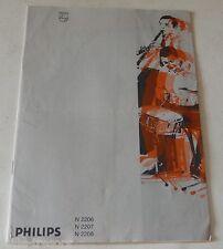 NOTICE D'EMPLOI MAGNETOPHONE à Cassette N 2206 2207 & 2208 PHILIPS Vintage 70'