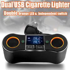 12V DC Car Cigarette Lighter Adapter 2 Way Double Plug Socket Charger Splitter