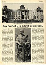 Kaiser Franz Josef I. von Oesterreich und seine Familie Hofburg in Wien v.1900