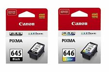 2 x Genuine Canon PG-645 CL-646 Ink Cartridges PG645 + CL646 MG2460 MG2560 MX496