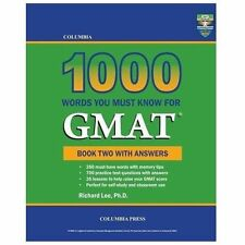 Columbia 1000 Words You Must Know for Gmat : Book Two with Answers by Richard...