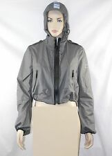 $595 NWT Burberry Sport 4 Pack-A-Way Grey Hooded Rain Coat Jacket Pouch Women