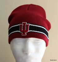 Hoosiers knit Hat embroidered University of Indiana NCAA cap college Cuffless