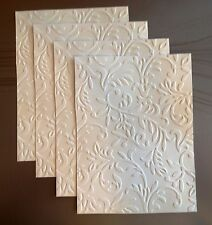 STAMPIN UP+ (4) FLORAL BAROQUE EMBOSSED CARDFRONT, BACKGROUND, PHOTO MAT.