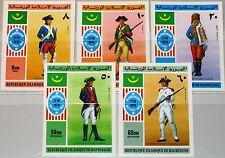 MAURITANIA MAURETANIEN 1976 528-32 341-2 C160-2 Uniformen Uniforms Soldiers MNH