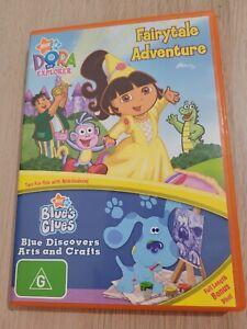 Blue's Clues Blue Discovers Arts and Crafts / Dora Fairytale Adventure DVD Reg 4