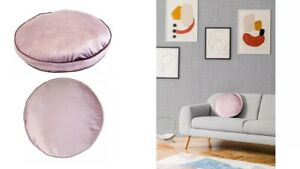 Panne Velvet Round Pillow - Pink 26'' x 14'' Edie@Home - Brand New with Tag