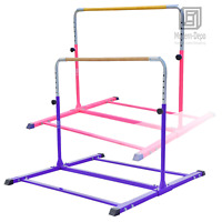 Adjustable (3'-5') Horizontal Training Bar Expandable Gymnastics Junior Kip Bar