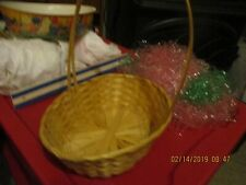 Basket Vintage Decoration Home Garden Container Gathering Collectible