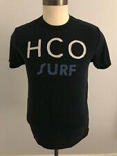 "Hollister ""HCO Surf"" T-Shirt - Blue w/ Stitched Lettering - SZ: M"