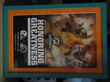 MIAMI DOLPHINS AUTOGRAPH POSTER OF TAYLOR & THOMAS ON HONORING GREATNESS,RARE
