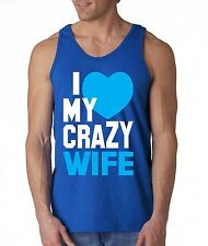 I Love my Crazy Wife funny TANK TOP super cute couple beauty love tee