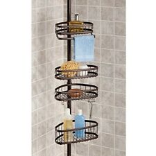 York Shower Caddy 5 ft to 9 ft Tension Pole Caddy in Bronze New in box