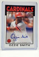 2021 Topps Series 1 Baseball OZZIE SMITH Auto 35th Anniversary 1986 ON CARD