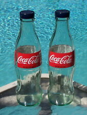 Coca Cola SALT & PEPPER SHAKERS (1 pair of 8oz Coca Cola bottles and caps) Coke