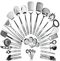 Stainless Steel Kitchen Utensil Set  29 Cooking Utensils Nonstick Cookware