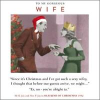 Gorgeous Wife Funny Christmas Greeting Card Retro Humour Drama Queen